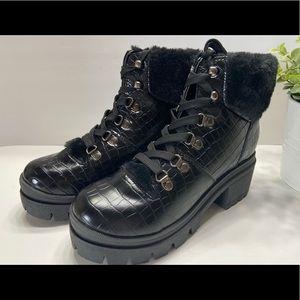 NEW Sugar Cullin Womens Faux Fur Leather Boots